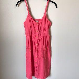 Aerie Beachy Linen Button Up Dress